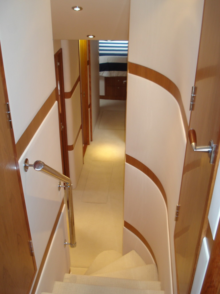 companionway looking fwd | Cleman