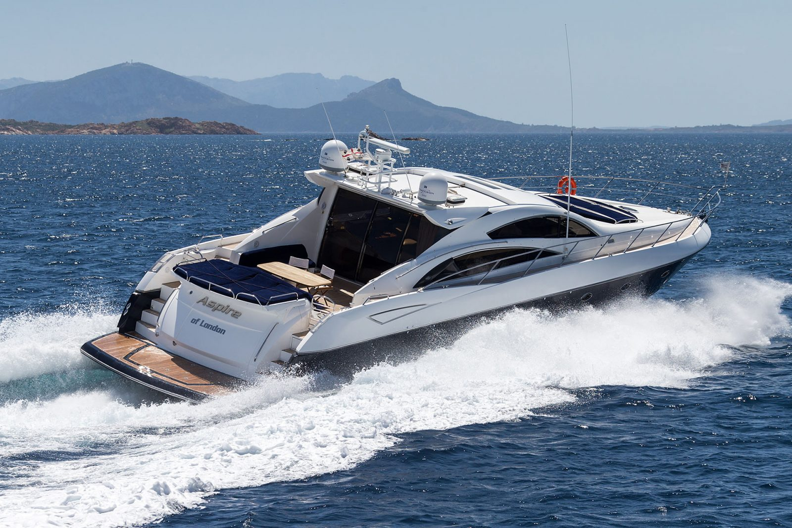 Luxury yacht for Charter | ASPIRE OF LONDON by Sunseeker